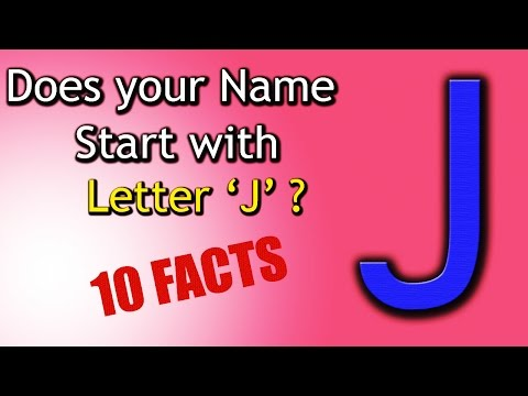 10 Facts about the People whose name starts with Letter 'J' | Personality Traits