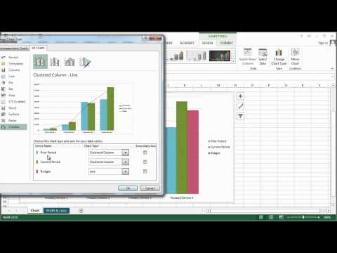 How to Make a Combination Chart in Microsoft Excel : Microsoft Excel Help