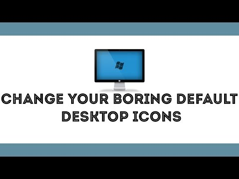 How To Change Default Desktop Icons in windows 10,8.1,8,7 [ all windows versions  ]