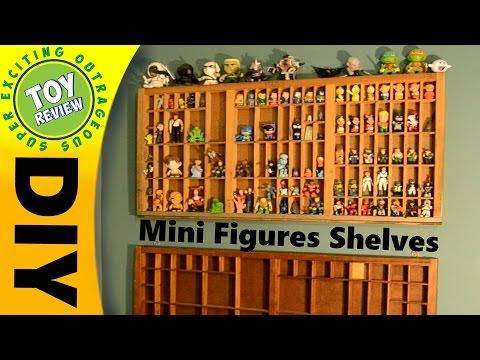 DIY Mini Figure Shelves - California Job Case Shadow Box - SEO Toy Review