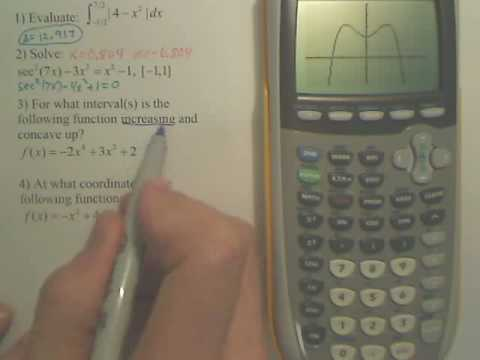 Finding Increasing Intervals with a Graphing Calculator