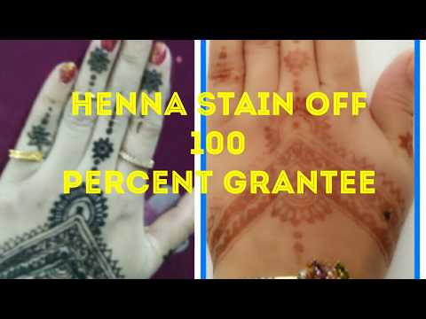 How to Remove Mehndi Colour from Hands Instantly 100 percent working