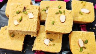 त्योहारों पर बेसन की बर्फी बनाने का सटीक तरीका,जो खाये मांग के बार बार खाये Besan barfi recipe,sweet