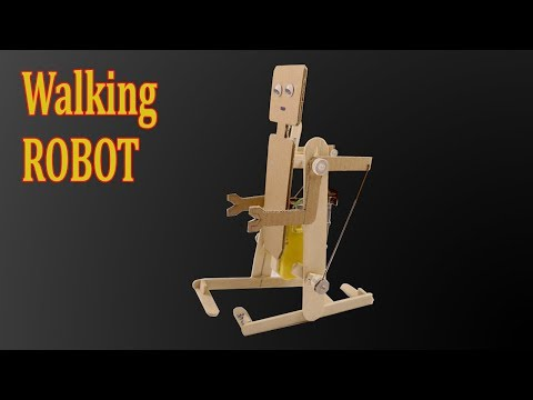 How to make a Simple Walking Robot at home  - Amazing idea with DC Motor