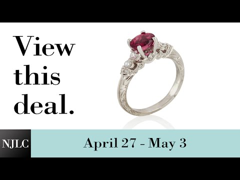 Deal of the Week: White Gold Tourmaline and Diamond Ring
