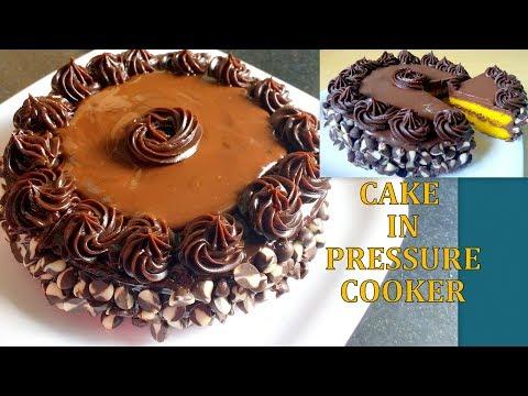 eggless cake in pressure cooker in hindi using sugar free - बिना अंडे का केक -eggless cake cooker me