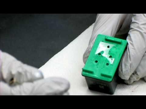 HP Printer Cartridges : How to Refill an HP 93 Ink Cartridge