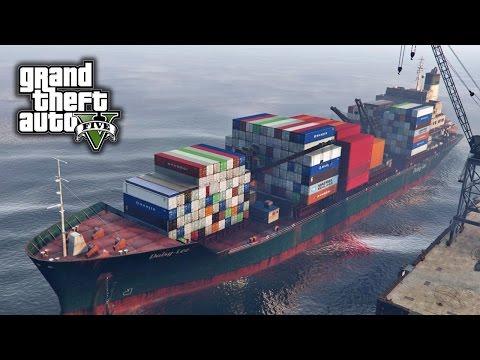 GTA V E50 - Cargo Ship | Mod Showcase