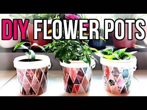DIY Flower Pots || Recycle Yogurt Containers || Recycled Crafts