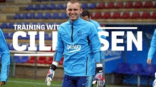 Jasper Cillessen gets ready for the Copa del Rey final