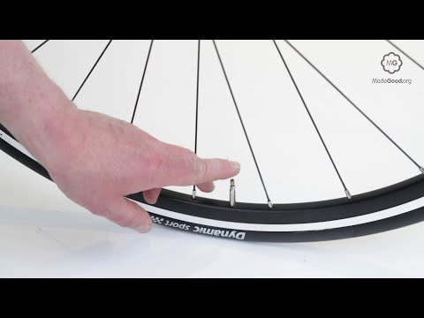 Inflate A Bike Tyre With A Presta Valve Or Sports Valve