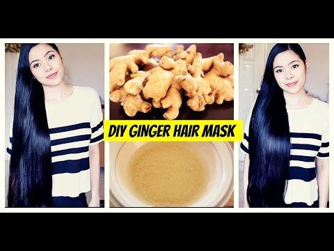 DIY Ginger Hair Mask for Hair Growth-Natural Hair Loss Treatment -Cure for Dandruff & Thinning Hair