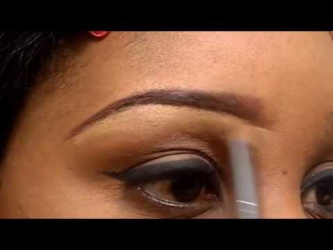 How to shape your eyebrows with concealer
