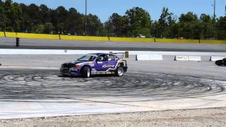 Formula D driver Chelsea DeNofa burnouts in drift car HD