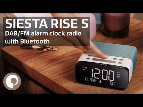 Pure Siesta Rise S - DAB+/FM alarm clock radio with Bluetooth