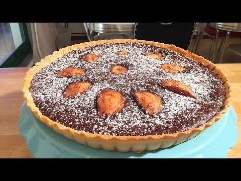 Pear and Chocolate Tart - Cheeky Crumbs