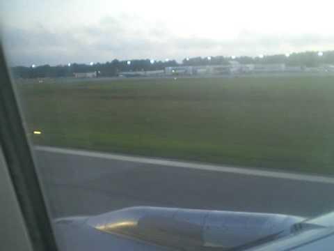 Landing at Myrtle Beach International Airport, South Carolina