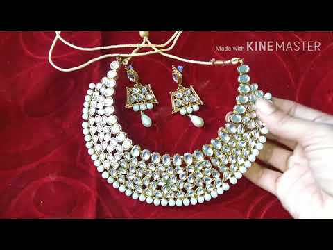 Unboxing pearls kundan artificial jewellery | new pearl jewellery designs | latest antique jewellery