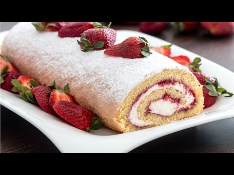 Strawberry Swiss Roll Recipe