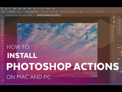 How to install Photoshop Actions on Mac and PC
