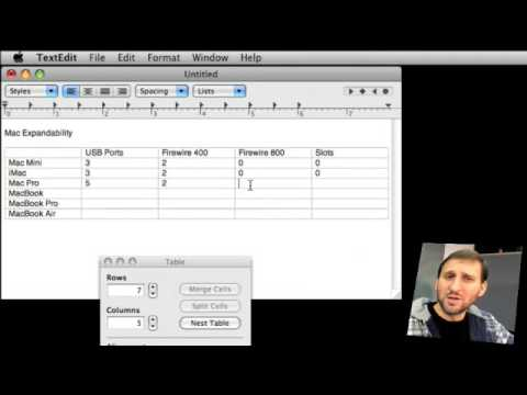 Creating Tables and Lists in TextEdit (MacMost Now 172)