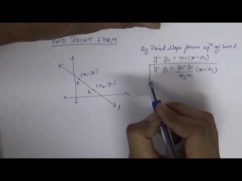 Two Point Form of Equation of a Line (Hindi)