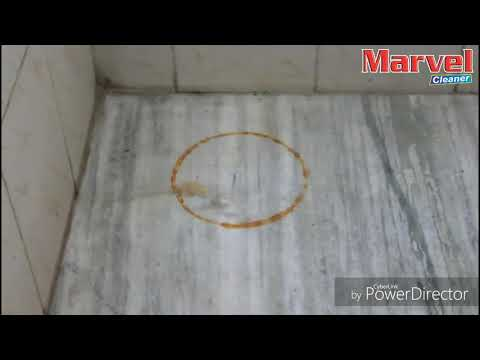 Marvel Cleaner- How to clean marble and cylinder stain in less than 60 sec.