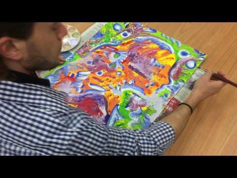 Identity Portrait Painting: DRY BRUSH 4th Paint layer