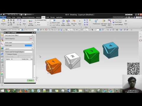 Siemens NX - Layer & Move to Layer