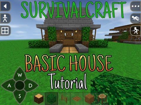 Survivalcraft simple house tutorial(starter house) part 1