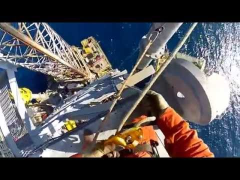 GoPro   Rope Access at Seadrill West Leda Jackup Rig Offshore