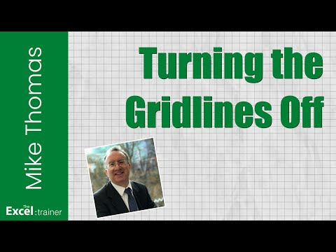Excel 2011 for Mac: Turning the Gridlines Off