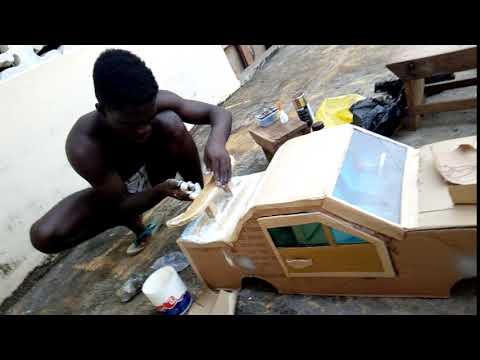 ruffking paper Box car