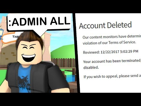 ADMIN COMMANDS HAVE RUINED ROBLOX