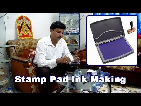Stamp pad ink making formula.. Stamp pad ink making business. How to make stamp pad ink