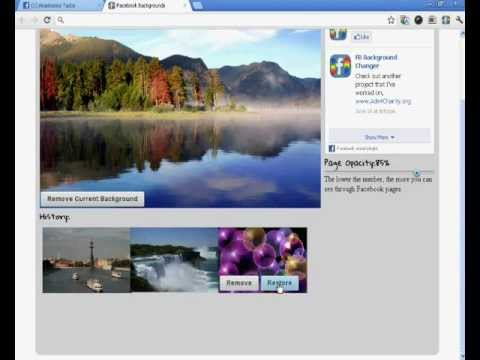 How To Change Your Facebook Background 2012 ( Chrome )