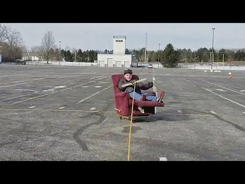 Parking Lot Drifting In An Old Recliner