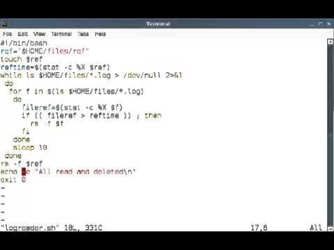 BASH script to delete accessed files