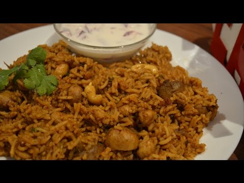 Mushroom/Kaalaan Biryani in Pressure Cooker - Easy Method (in Tamil with English Subtitles)