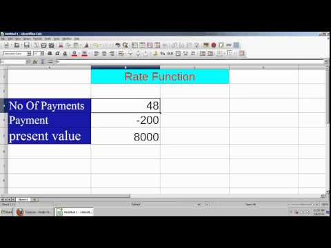 How To Find Interest Rate Of Loan In LibreOffice Calc Tamil