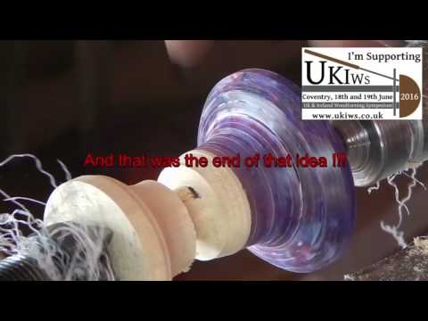Woodturning a light up spinning top from Cd cases ......(A FAIL)