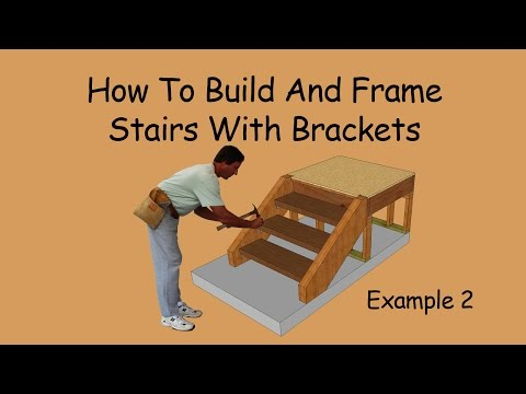 How to Build and Frame Stairs with Brackets – Example 2
