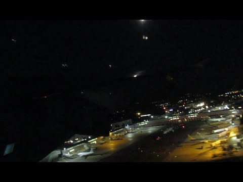 Airbus A380 London Heathrow Airport night take off