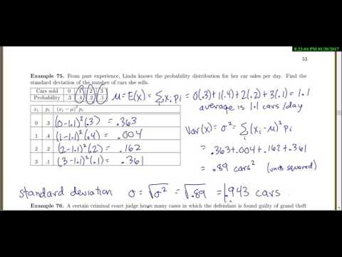 Stat 3000: Lecture Section 2.4 Variance and Percentiles and Quantiles