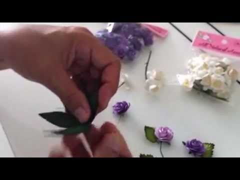 Making a Haku Lei / Floral Hat Band with Paper Flowers & Paper Leaves
