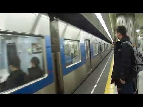 Central Tokyo (Asakusa) to Narita Airport on Sky Access train trip 2011-02-17