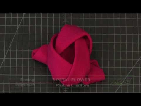 How to Create a Couture Quality 3 Petal Flower - A Fashion Design Lesson Preview