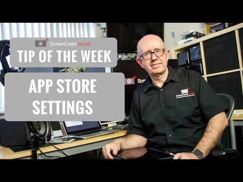 ScreenCastsOnline - Tip of the Week #scototw037 - App Store Settings