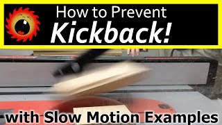 Actual Kickback (in Slow Motion), & How to Prevent It