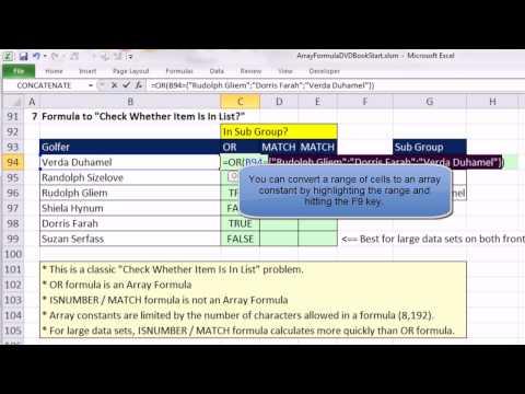 Ctrl + Shift + Enter: Excel Array Formulas #06: Array Constants in Top 3 Formula, VLOOKUP, more